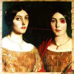 Coutures sur beaux-livres. Détail _Les deux soeurs_ (Chassériau),série PLATES COUTURES, 2020_Marie Parent aka Marnie Chaissac_LD